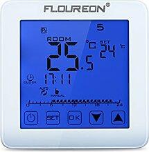 Floureon Raumthermostat Thermostat Touchscreen Wandthermostat mit großen LCD-Display Raumtemperaturregler Digital Smart Programmierbare elektrische Heizung Fußbodenheizung