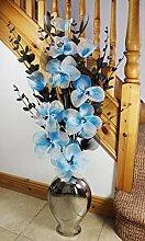Flourish Silber Bodenvase mit blaugrün blau und