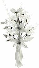 Flourish Silber mit Glitter Künstliche Blume in