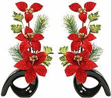 Flourish Weihnachten Dekoration, Schwarz Moderne