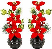 Flourish Weihnachten Dekoration, Schwarz Vase mit