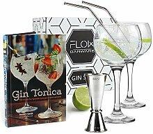 Flow Barware Gin-Tonic-Set, mit Gin-Ballongläsern