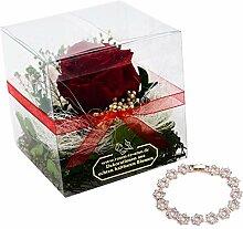 Flower-Box Set INKLUSIVE Schmuck - Haltbare Rose
