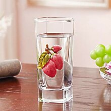 Flower Clear Bleifreies Glas Teetasse