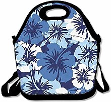 Flower Design Insulated Lunch Box Tote Bag Rugged
