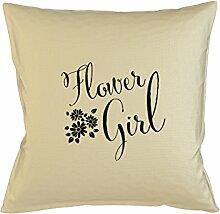 Flower Girl Wedding Kissenbezug Fall Sofa Bed Home Dekor Kissen Beige
