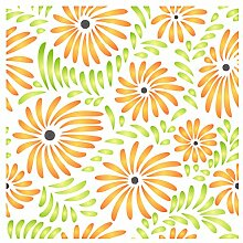 Flower Pattern Schablone-wiederverwendbar