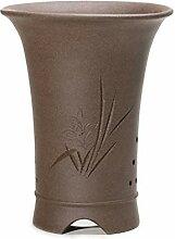 flower pot Keramikbeschichtung Roherz Lila ton