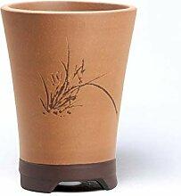 flower pot Lila ton Orchideen Blumentopf