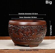 flower pot Nclon Chinesischer Stil Yixing Lila Ton