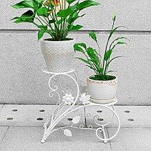 Flower Rack Balkon Boden Style Leiter Flower Bed Living Room Innen und Außenbereich Eisen zum Aufhängen blau grün Blume Flower Regal A + weiß