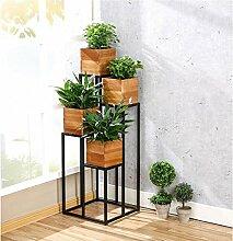 Flower Racks, Iron European Style Einfache Leiter Balkon Wohnzimmer Landing Flower Pot Rack verbringen ein paar Tage Flower Care Iron Surface ( größe : 40*40*100cm )