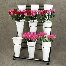 Flower Stand PHTW Weißer großer Blumenladen,
