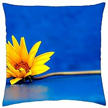 "Flower - Throw Pillow Cover Case (18"" x 18"")"