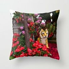 Flower Tigerdecorative pillow cases 18x18in pillow case