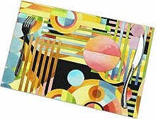 flowerlove Art Deco Maximalist Table Placemats for
