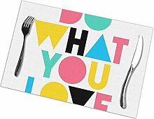 flowerlove Do What You Love Table Placemats for