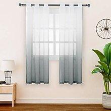 FLOWEROOM Gardinen/Vorhang Transparent Voile für