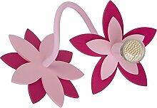 FLOWERS PINK I Wandleuchte Wandlampe Lampe