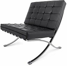 FlowerW Retro Chair Barcelona Stil Lounge Chair PU
