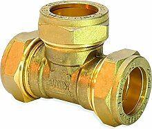 Flowflex p701.02Equal Tee, Kupfer/Messing,