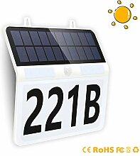 FLOWood Solar beleuchtete Hausnummer Solar