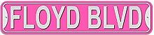 Floyd Schild–Kunststoff Wand Tür Street Road Stecker Name, plastik, rose, Boulevard