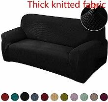 flqwe Sofa Cover,Gestrickter Dicker Sofabezug,