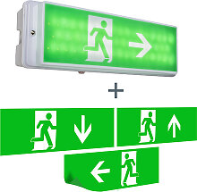 Fluchtweg-Leuchte Notausgang-Leuchte inkl. LED