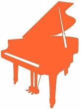 Flügel Aufkleber Sticker in 8 Größen und 25 Farben (36x50cm orange)