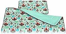 Fluffy Colours Kinderbettwäsche Decke Kissen