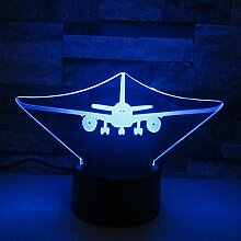 Flugzeug 3D Lampe Remote Touch LED 7 Farbwechsel