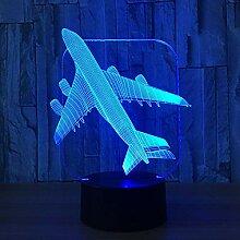 Flugzeug 3D Licht Tischlampe Optische Täuschung