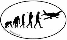 Flugzeug Pilot Flieger Evolution Aufkleber