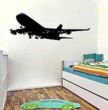 Flugzeug Wandaufkleber dekorative Aufkleber leicht