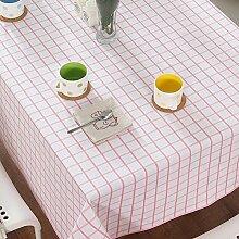 Fluidsysteme,leinwand,moderne,einfache tischdecke/tee tischdecke/weißer boden,rosa grün,fine lattice tischtuch-A 140x200cm(55x79inch)