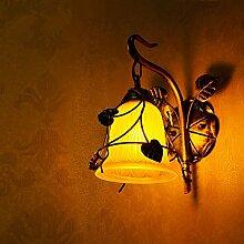 Flur schmiedeeiserne Wandleuchte Wandleuchte Lampe leuchtet Gang chinesischen Östlichen mediterranen Garten Treppen Gang lights bar Lampe Wandleuchte