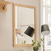 Flur Spiegel aus Eiche Massivholz 70 cm breit