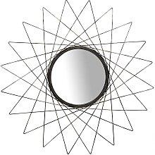 Flur Spiegel in Altgoldfarben rund