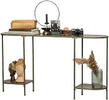 Flur Tisch in Altmessingfarben Vintage Design