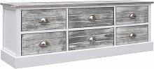 Flurbank 115x30x40cm Holz Grau