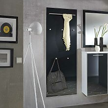 Flurgarderobe in Anthrazit Glas