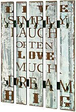 Flurgarderobe mit Schrift Vintage Look
