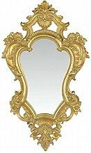 Flurspiegel Eckig Spiegel Gold Rahmen Verziehrung Wanddeko Antik Stil Höhe 48,4 cm