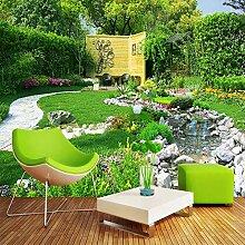 Fluss Garten Natur Landschaft 3D Fototapete Für