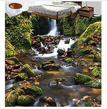 Flussboden Des Flusssteinbodens 3D Der Fliesen 3D