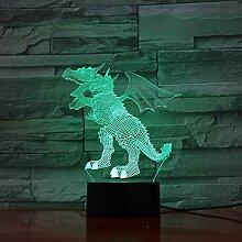 Fly Dinosaurier 3D LED Lampe 5 V USB Tisch