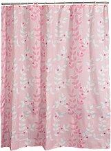 Fly Duschvorhang, europäischer Stil, wasserdichte Verdickung, rosa Blatt Schatten, Sanitär Isolierung Vorhang, Vorhang, Fenster Vorhang ( größe : 150*180cm )