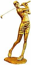 Fly Europäische Golfer Figur Dekoration Ornamente