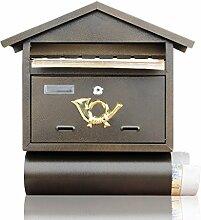 FLY Landhaus-Briefkasten Im Freien Schmiedeeisen